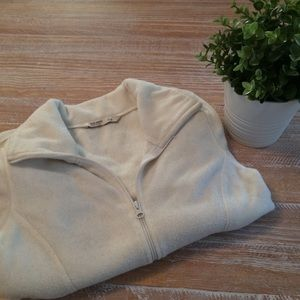 Old Navy Off-White Colored Fleece Jacket - Size S